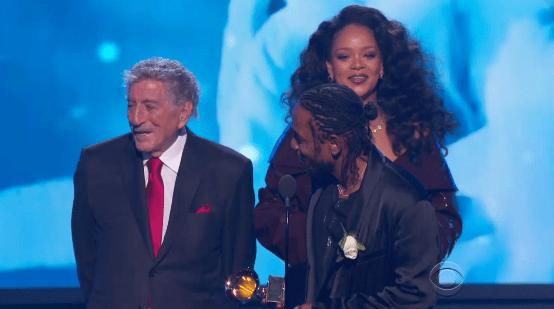 Tony Bennett wouldn't move out of the way to let Rihanna talk: