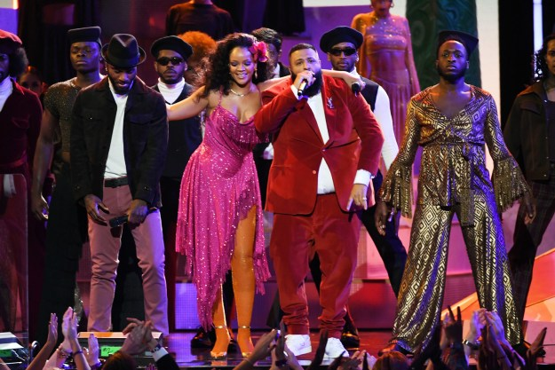 """But tonight on the Grammys, she truly took it up a notch with her performance of """"Wild Thoughts,"""" alongside DJ Khaled."""