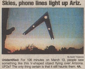 The Phoenix Lights UFO sighting: