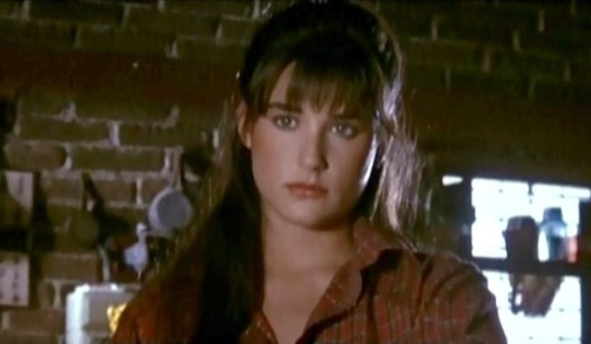 Demi Moore played Patricia Welles, a young heroine in Parasite in 1982.