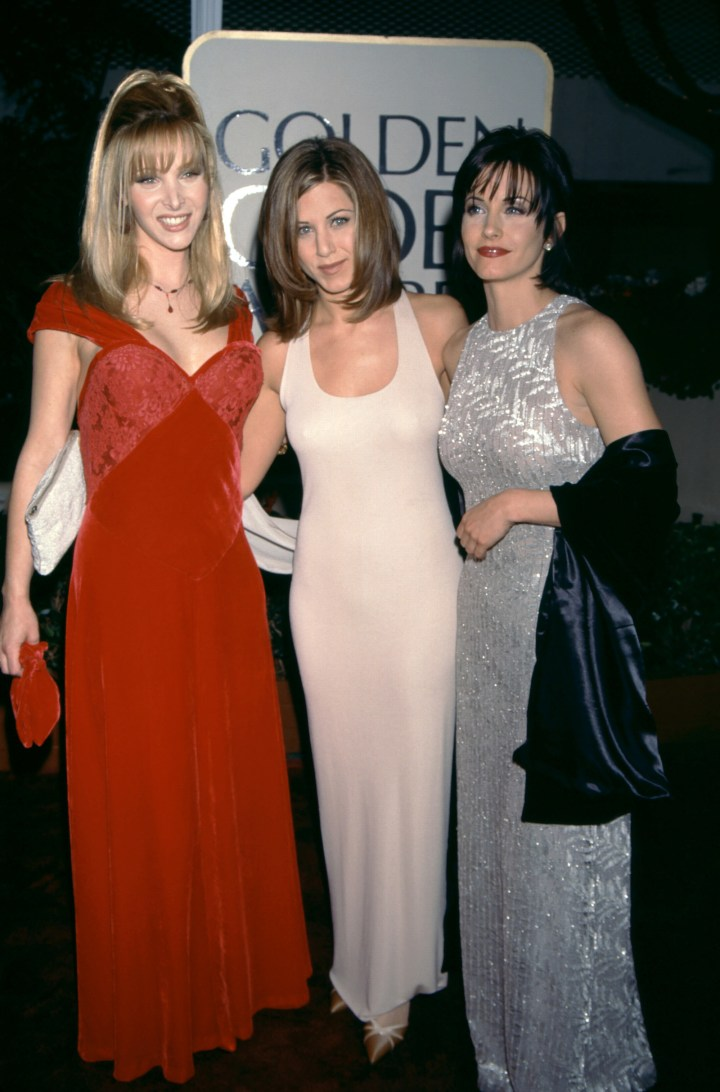 (L-R) Lisa Kudrow, Jennifer Aniston, and Courteney Cox — 1996