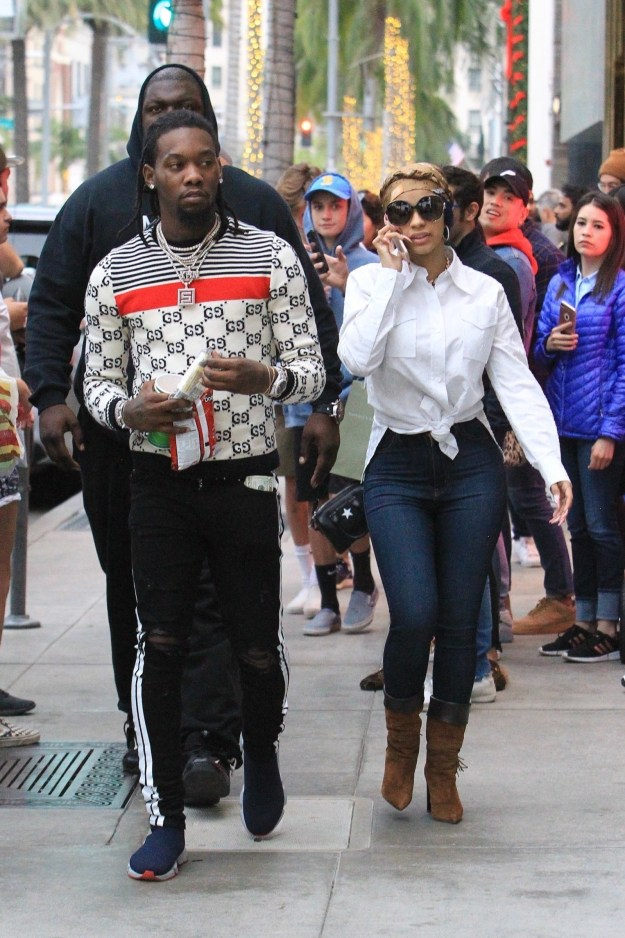 Offset and Cardi B went shopping on Rodeo Drive.