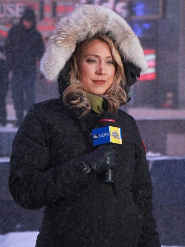 Ginger Zee braved the snowpocalypse in New York.