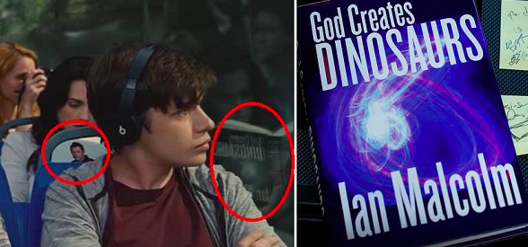 You can spot Ian Malcolm's book throughout Jurassic World.