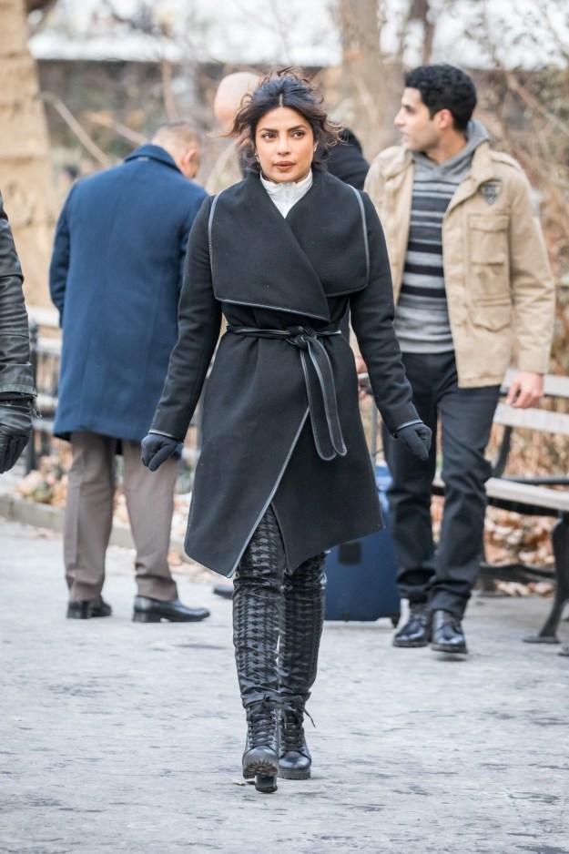 Priyanka Chopra filmed Quantico on the freezing streets of NYC.