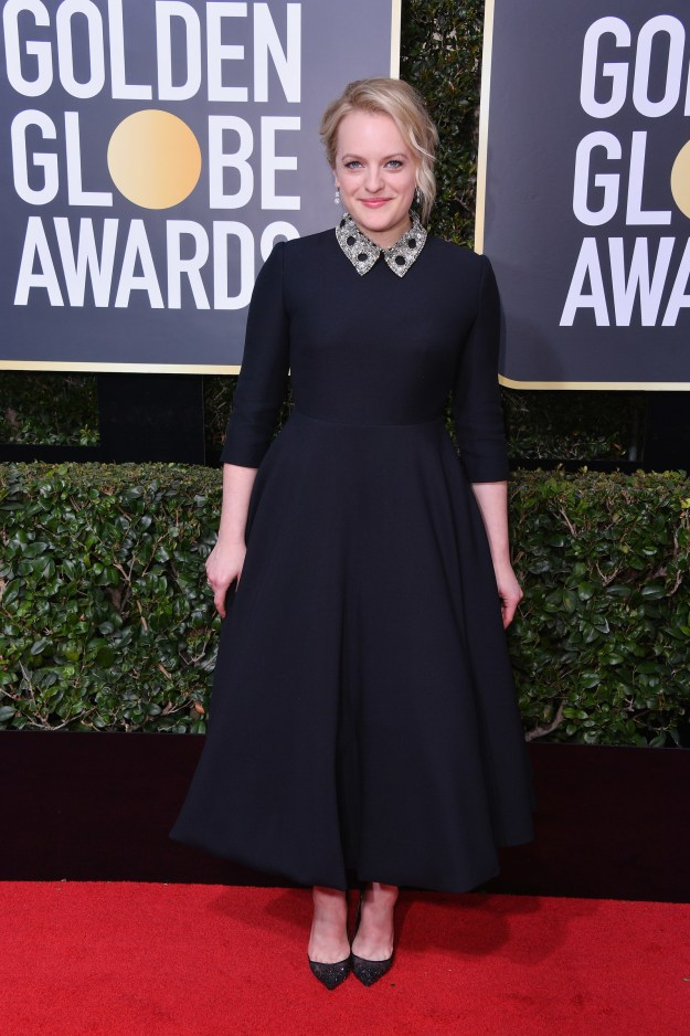 Would you like to own the Dior worn by ACTUAL GOLDEN GLOBE WINNER ELIZABETH MOSS?