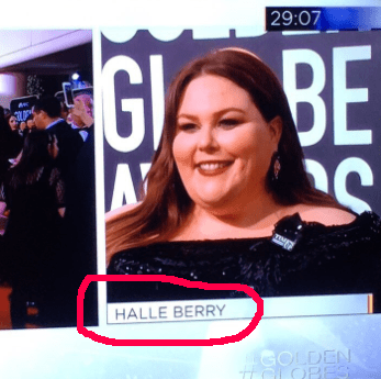 """Chrissy Metz was labeled as """"Halle Berry."""""""