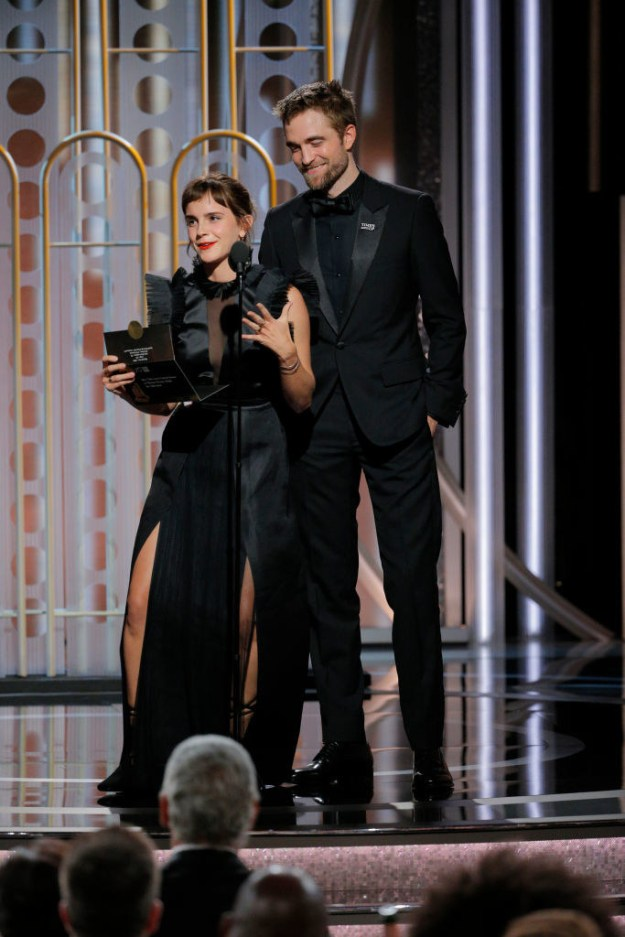 Why, a HARRY POTTER REUNION, OF COURSE. Yes, that's right, Hermione Granger and Cedric Diggory reunited tonight to present together at the Golden Globes.