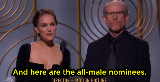 Natalie Portman threw some shade at the industry: