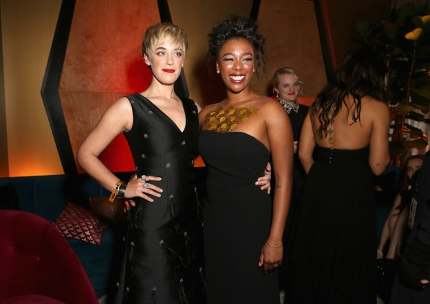 And Samira brought her wife Lauren Morelli along for the afterparty.