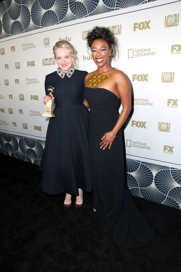And she also caught up with her Handmaid's Tale costar Samira Wiley.