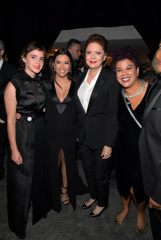 While Emma Watson, Eva Longoria, Susan Sarandon, and Rosa Clemente joined forces for this powerful photo.