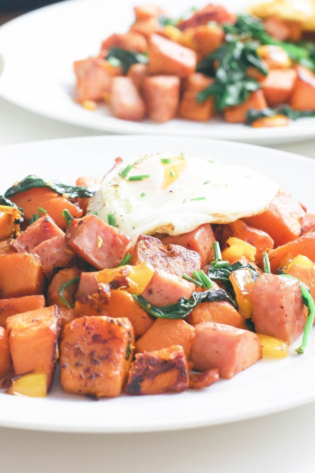 Sweet Potato And Kielbasa Hash