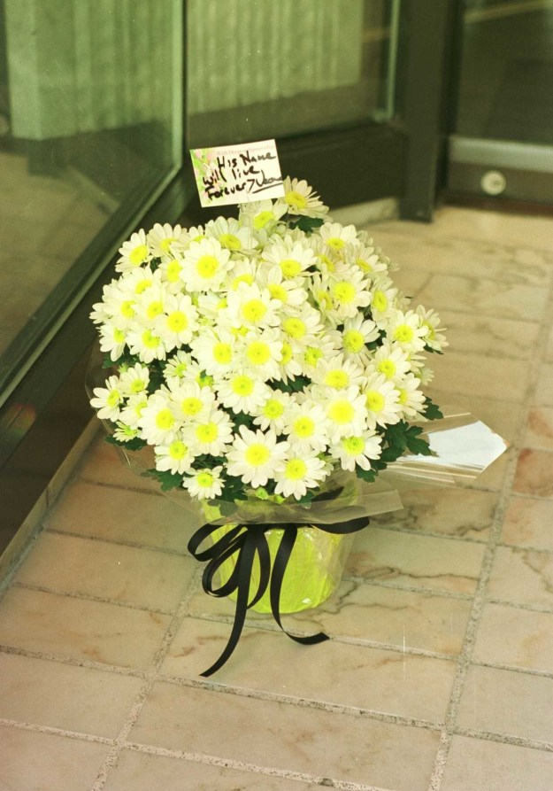 "Fans mourned all over the world. Someone sent flowers to the Gianni Versace store on Rodeo Drive in Beverly Hills with the message ""His name will live forever."""
