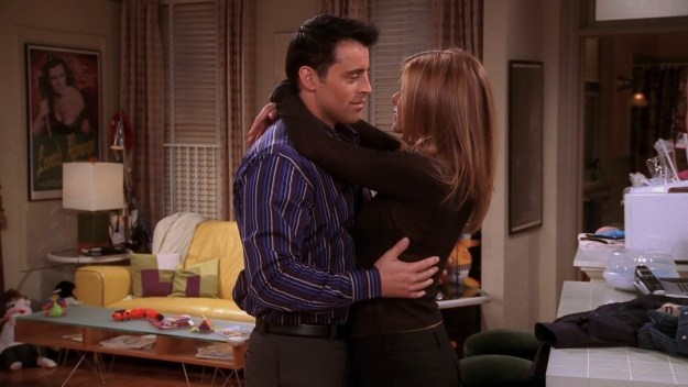When the show couldn't deal with Rachel not being in a relationship, so she and Joey started dating.