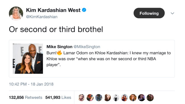And Kim was just not here for it.