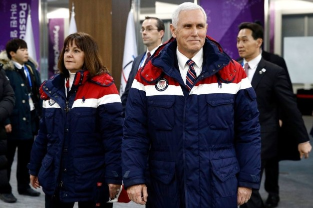 Also in attendance? None other than the vice president, who was there to cheer on Team USA with Mrs. Pence.