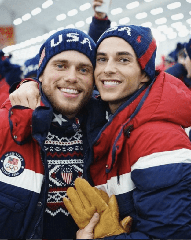 Following the ceremony, Gus shared this super cute picture of him and Adam from the event (seriously, this is Christmas-card worthy)...and that's where the fun continues. Be sure to pop some popcorn for this one.