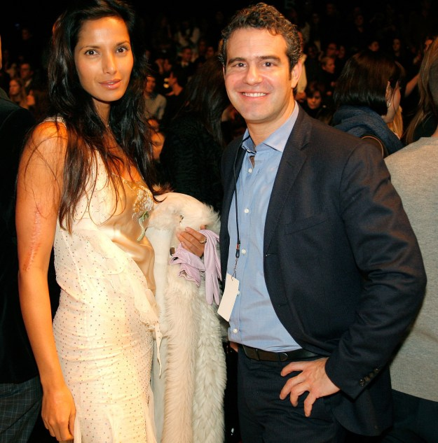 2008: Padma Lakshmi and Andy Cohen.