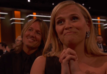 When Reese Witherspoon supported her Big Little Lies co-stars throughout awards season and had THIS permanent expression pretty much whenever Nicole Kidman did anything...