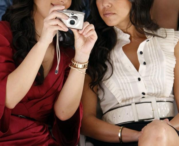 2008: Kim and Kourtney Kardashian.