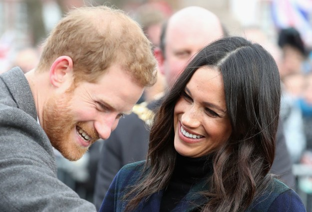 When Meghan was really damn elated while adorably looking at Harry.