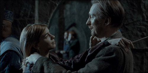 Nymphadora Tonks and Remus Lupin from the Harry Potter series by J. K. Rowling
