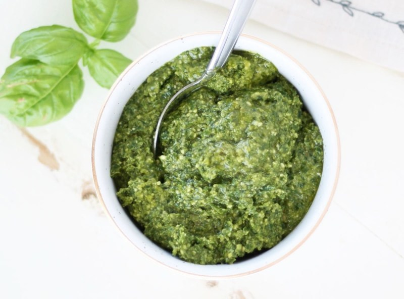 Make your own pesto with only five ingredients and use it however you'd like: over pasta, pizza, flatbreads...you name it! Get the recipe here.
