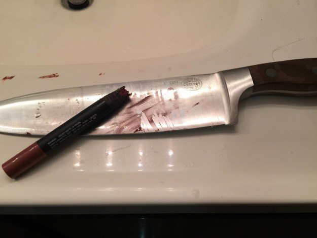 This boyfriend who was asked to sharpen his girlfriend's lipstick.