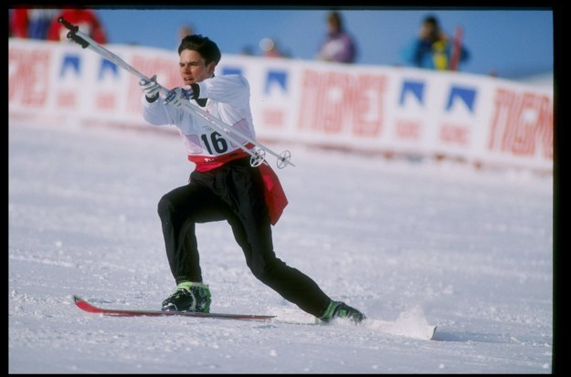 The sport was developed in the '60s, and combined some of the artistic elements of figure skating and ballet with skiing. Athletes would perform complex routines to music while making their way down the mountain slope.