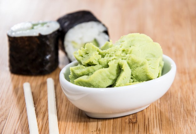 Most wasabi is just dyed horseradish.