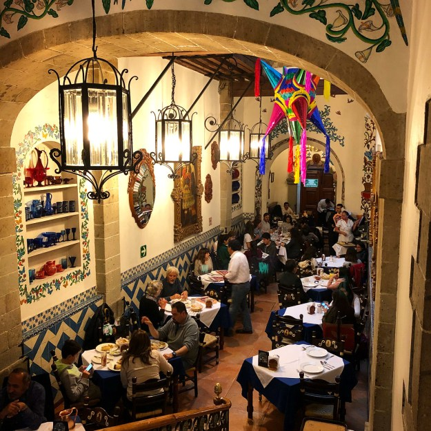 And finally, the wandering nun at Café de Tacuba: