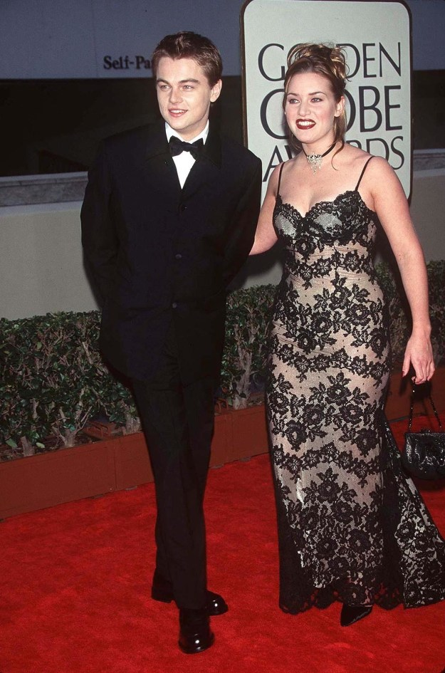 Leonardo Dicaprio and Kate Winslet at the Golden Globes:
