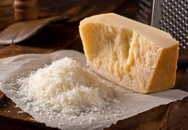 Parmesan isn't vegetarian.