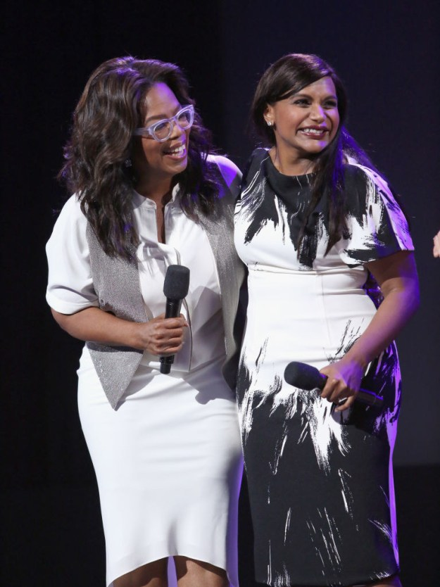 In fact, the pair are such good friends that when Mindy gave birth to daughter Katherine, Oprah sent her a baby present.