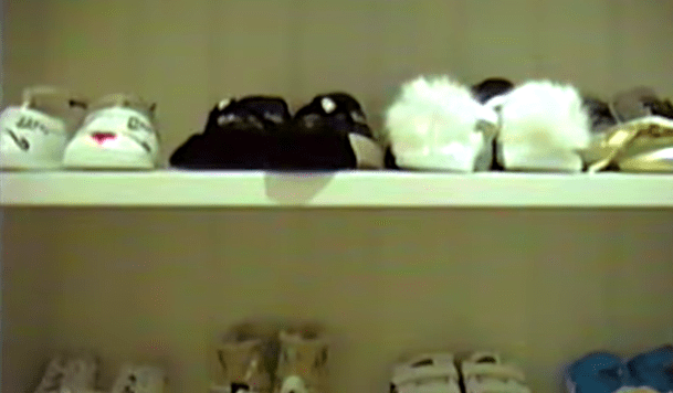 This baby already has an ~ intense ~ and Kardashian-worthy shoe collection...