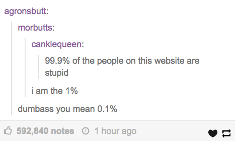 The person who didn't do the math quite right:
