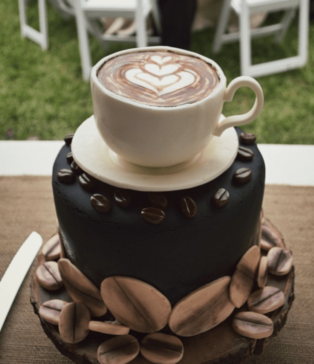 While this person deserves a raise for creating an entire latte using cake alone: