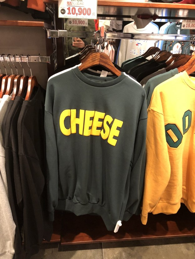 First and foremost, Seoul has CHEESE SHIRTS.