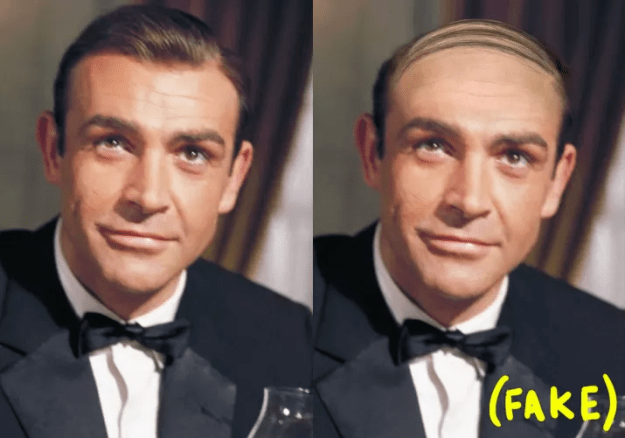 Sean Connery wore a toupee when he played James Bond.