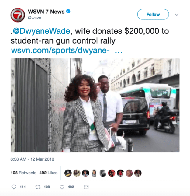 Anyways, you can imagine Gabrielle was a little taken aback when she saw this tweet from WSVN 7News in Miami linking to a news piece about her and Dwyane...