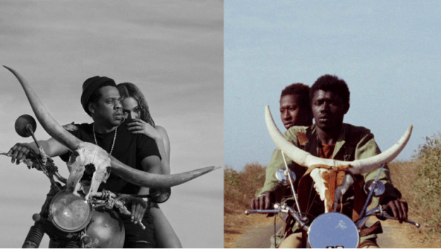 Beyoncé and Jay-Z have just announced the dates for their new joint tour, On the Run II, later this year. And not for the first time, the power couple are drawing inspiration from Africa. The tour's promo video and poster are a clear shoutout to the 1973 vintage movie Touki Bouki, by Senegalese director Djibril Diop Mambéty.