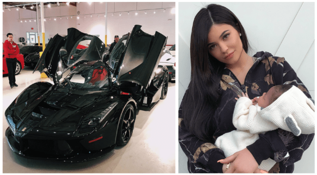 Kylie Jenner gave birth to daughter Stormi last month and Travis Scott gifted her a Ferrari La Ferrari that starts out at $1.4 million.