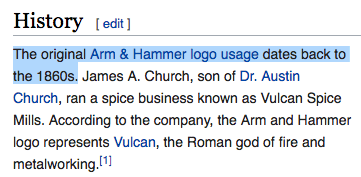 The brand started in 1867, which is 31 years before Armand Hammer was even born, y'all!