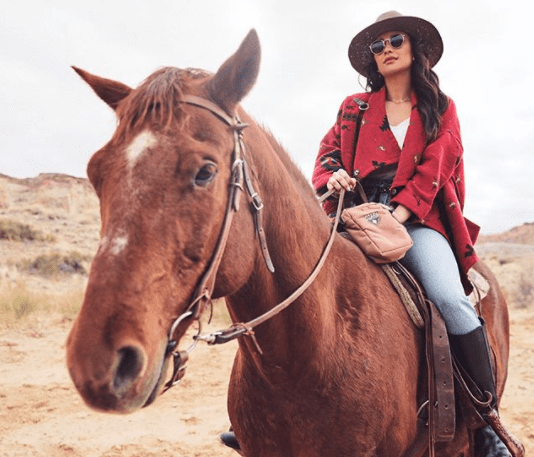 Shay Mitchell became a cowgirl.
