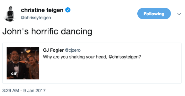 By now you have to be aware of the fact that Chrissy Teigen is an expert at roasting her husband, John Legend. She's so good in fact, it's basically inspirational.