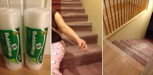 These parents who came up with a fool-proof plan to prevent their children from sneaking downstairs to peek at their Christmas presents.