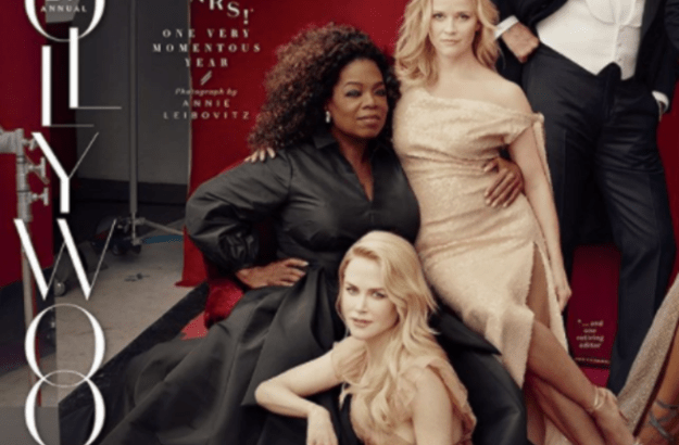 When she had a sense of humor about this Vanity Fair photo that was edited to look like she had three legs: