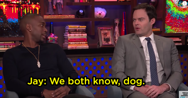 Bill and Jay looked at each other and they def were on the same page with this question: