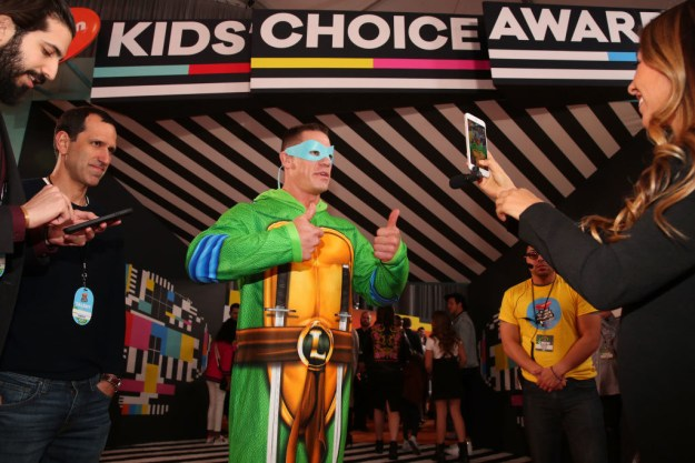 But some part of me wants to believe that he just kind of wanted to wear Teenage Mutant Ninja Turtles footie pajamas, and he's John Cena, so like, who's going to stop him?
